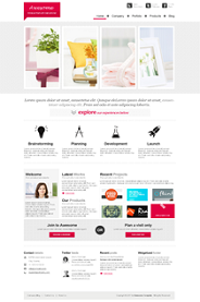 OT Awesome - Clean corporate Joomla template